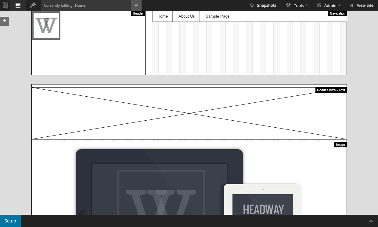 Headway's grid editor doesn't give a lot of information about the blocks.