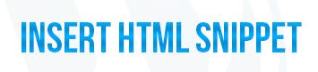 Insert HTML Snippet