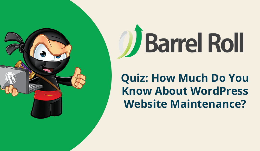 WordPress Maintenance Quiz