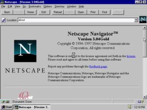 Netscape Navigator v3